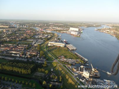 Prima uitzicht over Rotterdam!
