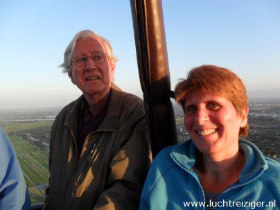 Super veel te zien hier boven Rotterdam, vanuit een hete luchtballon.