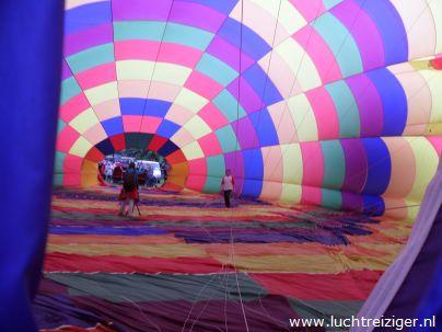360 graden rond foto maken in opgeblazen luchtballon in Vondelpark te Papendrecht