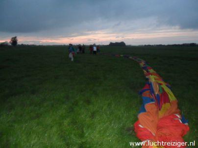 Luchtballon opruimen in Berkenwoude