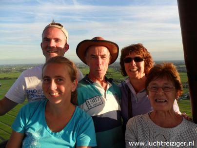 Boven het Groene Hart van Zuid-Holland met de luchtballon