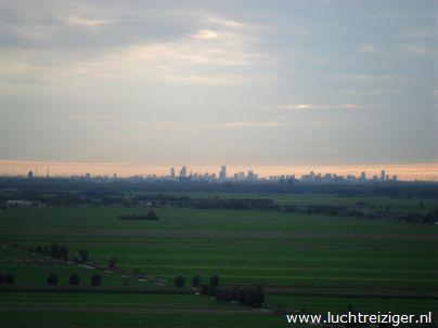Uitzicht op Den Haag, vanuit luchtballon