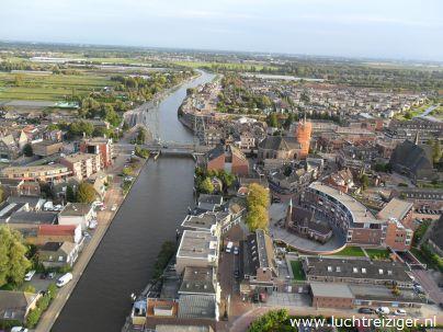 Luchtballon boven Alphen aan den Rijn