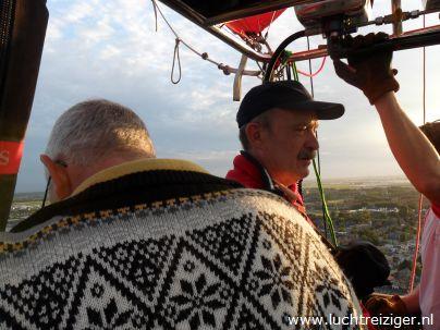 Uitzicht over Waddinxveen vanuit Luchtballon