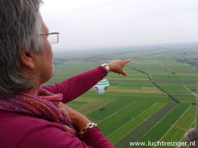 In de luchtballon boven Papekop