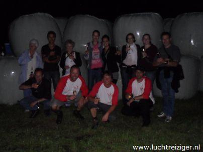 Groepsfoto ballonvaart van Papendrecht naar Vuren