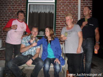 Champagnedoop na ballonvaren boven Zuid-Holland