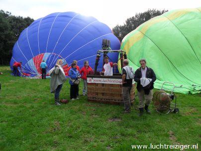 Ballonvaren van Waddinxveen, over Gouda, het Groene Hart in, richting Schoonhoven.