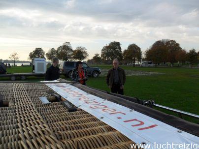 Klaar voor vertrek in Gorinchem op terrein Buiten de Waterpoort