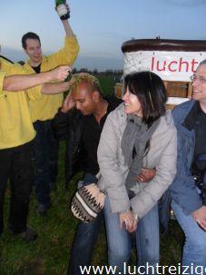 Champagnedoop of luchtdoop na ballonvaart vanuit Nieuwegein naar IJsselstein