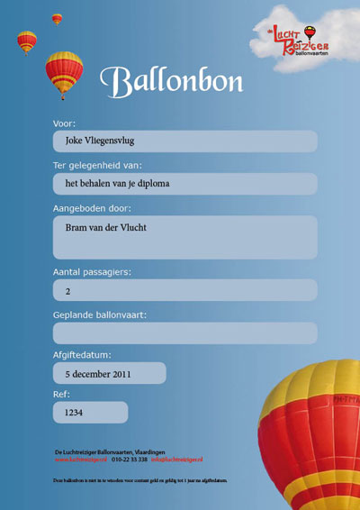 Ballonbon om ballonvaart te maken