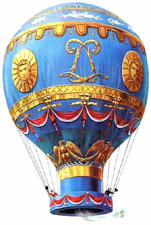 Montgolfier-luchtballon voor ballonvaart
