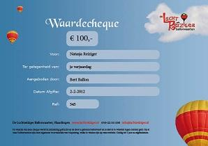 De Luchtreiziger WaardeCheque