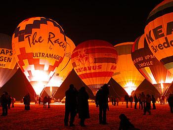 Nightglow bedrijfs luchtballonnen