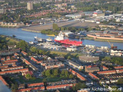Fantastisch uitzicht over het Rijnmondgebied.