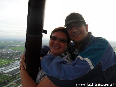 Uitzicht over Gouda vanuit de luchtballon