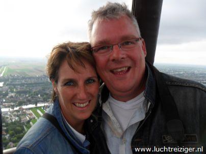 Samen in de luchtballon van waddinxveen, via Gouda naar Haastrecht