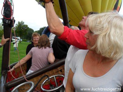 Ballonvaren vanuit Papendrecht, zuid-Holland