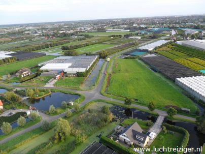 uitzicht vanuit luchtballon boven Alphen aan den Rijn