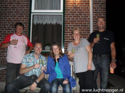 Champagne na ballonvaart in Hoornaar (opgestegen in Papendrecht)
