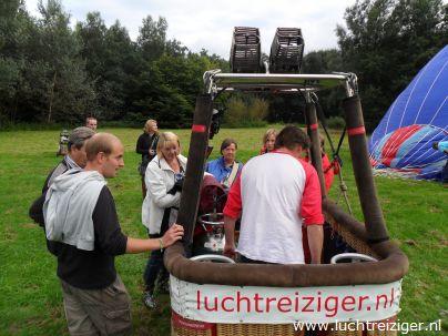 Startplek Gouwebos in Waddinxveen voor een ballonvaart naar Cabauw
