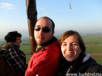 Genieten boven meerkerk vanuit de luchtballon