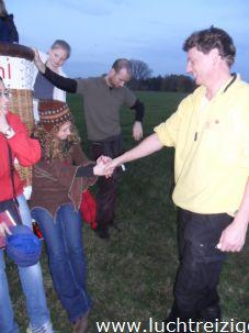 Veilig aan de grond met luchtballon