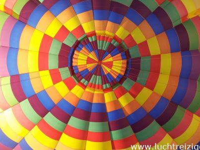 De PH-DLB van binnenuit tijdens de ballonvaart van Gorinchem naar Leerdam