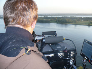 Camera's van Duitse TV in luchtballon